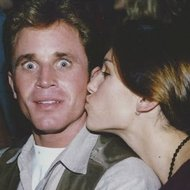 Amy Jo & David Yost getting silly in the sand!