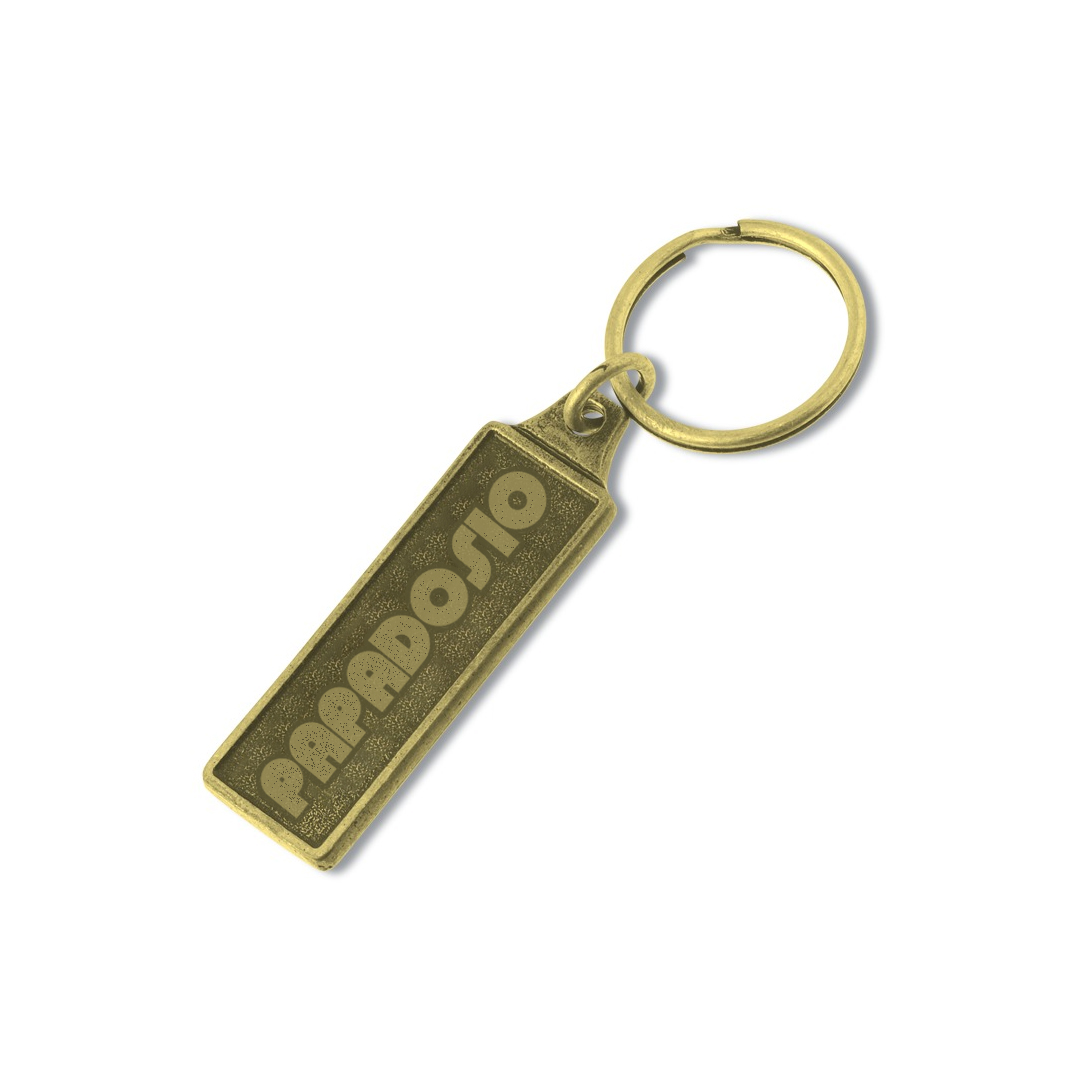 Papadosio retro logo keychain