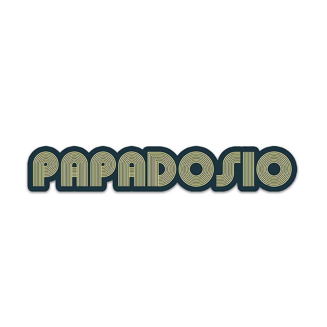 Papadosio retro sticker