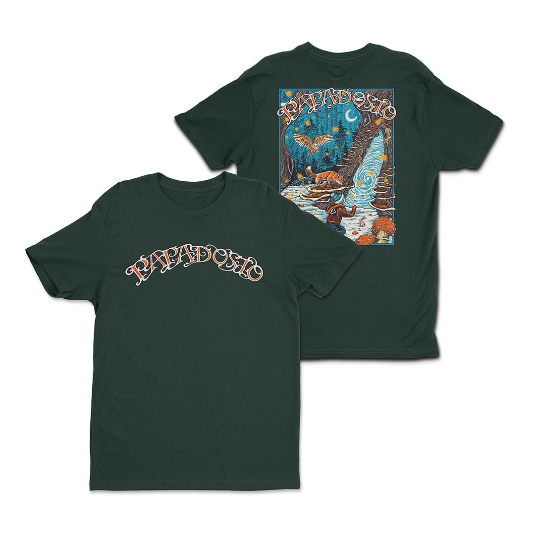 Papadosio holidosio 2020 event shirt forest green