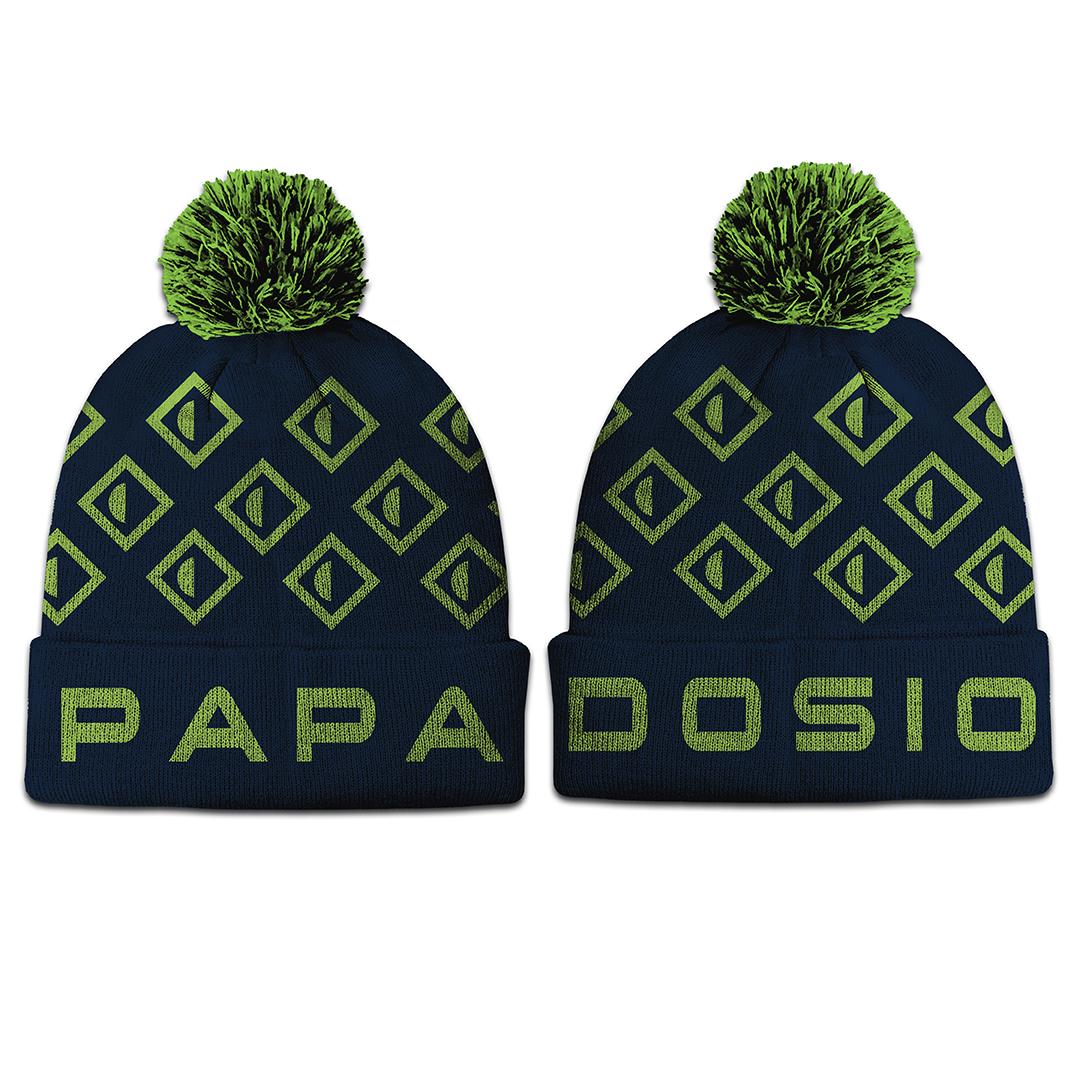 Papadosio winter logo pom beanie