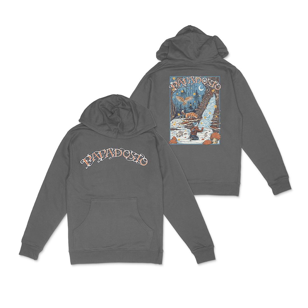 Papadosio holidosio 2020 event pullover hoodie charcoal