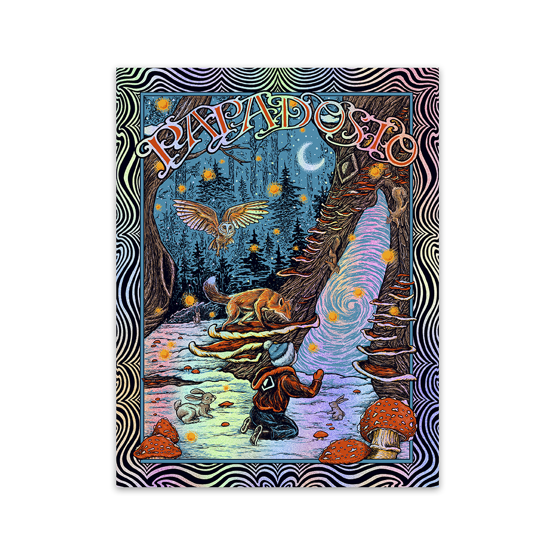 Holidosio foil screen print poster