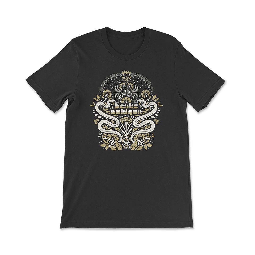 Beats antique unisex ornate snakes t shirt black