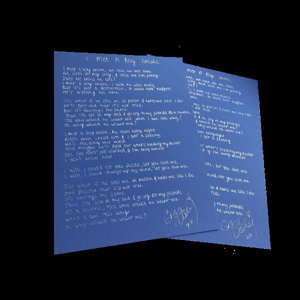 Imabo   lyric sheet   store image 2