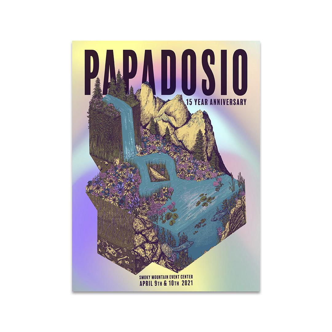 Papadosio 15 year anniversary foil poster